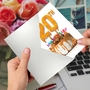 Creative Milestone Anniversary Printed Greeting Card From NobleWorksCards.com - Big Day 20 image 3