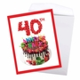 Creative Milestone Anniversary Jumbo Printed Greeting Card From NobleWorksCards.com - Big Day 40 image 3