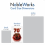 Creative Milestone Birthday Greeting Card From NobleWorksCards.com - Big Day 70 image 4