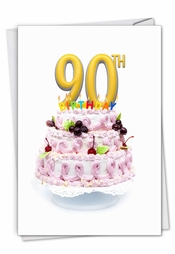 Big Day 90 Card Greeting Happy Birthday