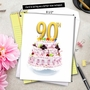 Stylish Milestone Birthday Jumbo Paper Card From NobleWorksCards.com - Big Day 90 image 6