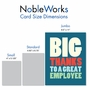 Hilarious Employee Appreciation Day Jumbo Greeting Card From NobleWorksCards.com - Big Employee Thanks image 5