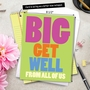 Humorous Get Well Jumbo Printed Card from NobleWorksCards.com - Big Get Well From Us image 6