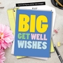 Humorous Get Well Jumbo Paper Greeting Card from NobleWorksCards.com - Big Get Well Wishes image 6