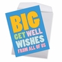 Funny Get Well Jumbo Paper Card From NobleWorksCards.com - Big Get Well Wishes image 2