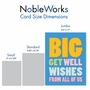 Funny Get Well Jumbo Paper Card From NobleWorksCards.com - Big Get Well Wishes image 4