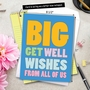 Funny Get Well Jumbo Paper Card From NobleWorksCards.com - Big Get Well Wishes image 6