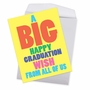 Funny Graduation Jumbo Paper Greeting Card From NobleWorksCards.com - Big Graduation Wish image 2