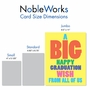 Funny Graduation Jumbo Paper Greeting Card From NobleWorksCards.com - Big Graduation Wish image 4