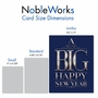 Funny New Year Jumbo Paper Greeting Card From NobleWorksCards.com - Big Happy New Year-Elegant image 4