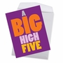 Humorous Congratulations Jumbo Paper Greeting Card From NobleWorksCards.com - Big High Five image 3