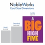 Humorous Congratulations Jumbo Paper Greeting Card From NobleWorksCards.com - Big High Five image 5