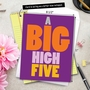 Humorous Congratulations Jumbo Paper Greeting Card From NobleWorksCards.com - Big High Five image 6