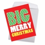 Humorous Merry Christmas Jumbo Paper Card From NobleWorksCards.com - Big Merry Christmas image 2