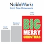 Humorous Merry Christmas Jumbo Paper Card From NobleWorksCards.com - Big Merry Christmas image 4