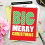 Humorous Merry Christmas Jumbo Paper Card From NobleWorksCards.com - Big Merry Christmas image 6
