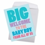 Hysterical Baby Jumbo Printed Greeting Card From NobleWorksCards.com - Big New Baby Boy image 2