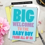 Hysterical Baby Jumbo Printed Greeting Card From NobleWorksCards.com - Big New Baby Boy image 6