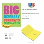 Humorous Baby Jumbo Paper Greeting Card From NobleWorksCards.com - Big New Baby Congrats image 5