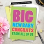 Humorous Baby Jumbo Paper Greeting Card From NobleWorksCards.com - Big New Baby Congrats image 6