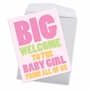 Funny Baby Jumbo Card From NobleWorksCards.com - Big New Baby Girl image 2