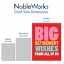 Funny Retirement Jumbo Card From NobleWorksCards.com - Big Retirement Wishes image 4