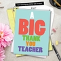 Hysterical Teacher Thank You Jumbo Greeting Card from NobleWorksCards.com - Big Thank You Teacher image 6