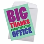 Hilarious Thank You Jumbo Printed Greeting Card From NobleWorksCards.com - Big Thanks From The Office image 2