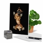 Stylish Miss You Paper Greeting Card By Underlook From NobleWorksCards.com - Big Under Dogs - Boxer image 6