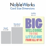 Funny Baby Jumbo Card From NobleWorksCards.com - Big Welcome image 4