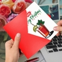Creative Merry Christmas Printed Greeting Card From NobleWorksCards.com - Bloody Merry image 2