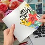 Creative Birthday Printed Greeting Card By Batya Sagy From NobleWorksCards.com - Blooming Wishes image 2