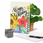 Creative Birthday Printed Greeting Card By Batya Sagy From NobleWorksCards.com - Blooming Wishes image 5