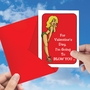 Hilarious Valentine's Day Greeting Card By Douglas Hill From NobleWorksCards.com - Blow A Kiss image 3