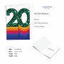 Stylish Milestone Anniversary Paper Card From NobleWorksCards.com - Bold Milestones - 20 image 2