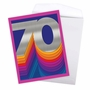 Stylish Milestone Birthday Jumbo Paper Card From NobleWorksCards.com - Bold Milestones - 70 image 3