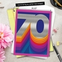 Stylish Milestone Birthday Jumbo Paper Card From NobleWorksCards.com - Bold Milestones - 70 image 6