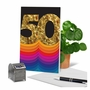 Stylish Milestone Anniversary Paper Greeting Card From NobleWorksCards.com - Bold Milestones image 6