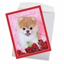 Humorous Valentine's Day Jumbo Paper Greeting Card By Spotlight Licensing From NobleWorksCards.com - Boo My Valentine - Rose image 3