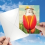 Hilarious Easter Printed Card By Michael Quackenbush From NobleWorksCards.com - Bunny Tulip image 3