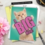 Stylish Miss You Jumbo Paper Greeting Card from NobleWorksCards.com - Cat A Big Hug image 6