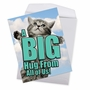 Hilarious Get Well Jumbo Printed Card From NobleWorksCards.com - Cat A Big Hug image 2