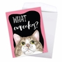 Hilarious Birthday Jumbo Greeting Card By Christine Anderson From NobleWorksCards.com - Cat Antics - Cupcakes image 3