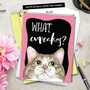 Hilarious Birthday Jumbo Greeting Card By Christine Anderson From NobleWorksCards.com - Cat Antics - Cupcakes image 6
