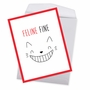 Creative Get Well Jumbo Printed Greeting Card From NobleWorksCards.com - Cat Got Your Tongue - Feline Fine image 3