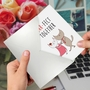 Creative Anniversary Greeting Card From NobleWorksCards.com - Cat Got Your Tongue - Purr-Fect Together image 3