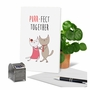 Creative Anniversary Greeting Card From NobleWorksCards.com - Cat Got Your Tongue - Purr-Fect Together image 6
