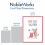 Stylish Anniversary Jumbo Card From NobleWorksCards.com - Cat Got Your Tongue - Purr-Fect Together image 5
