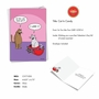 Hysterical Valentine's Day Printed Greeting Card By Scott Metzger From NobleWorksCards.com - Cat In Candy image 2