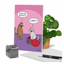 Hysterical Valentine's Day Printed Greeting Card By Scott Metzger From NobleWorksCards.com - Cat In Candy image 6